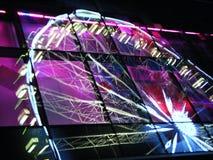 Reflexão da roda de Ferris foto de stock