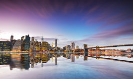 Reflexão da skyline de New York Foto de Stock