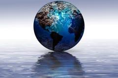 Reflexão da terra do planeta Foto de Stock