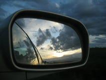 Reflexão da viagem por estrada Fotografia de Stock