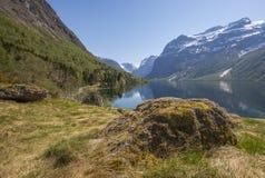Reflexão das montanhas Fotografia de Stock Royalty Free