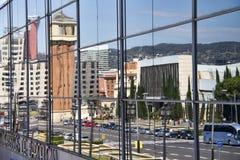 Reflexão de Barcelona, Espanha Foto de Stock