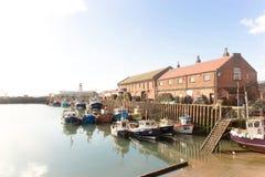A reflexão de barcos de pesca Imagem de Stock Royalty Free