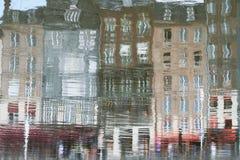 Reflexão de Honfleur, France Fotografia de Stock