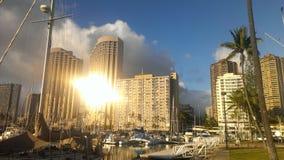Reflexão de Sun Foto de Stock