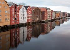 Reflexão de Trondheim Fotografia de Stock Royalty Free