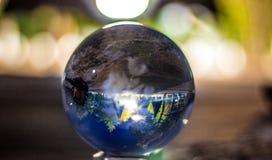 reflexão de um scape da noite fotografia de stock