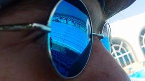 Reflexão de vidro Imagem de Stock Royalty Free
