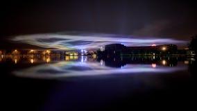 Reflexão do aurora borealis Foto de Stock Royalty Free