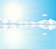 Reflexão do céu ilustração royalty free