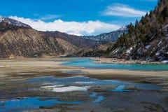 Reflexão do céu e da água Fotos de Stock Royalty Free