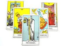 A reflexão do cartão de tarô do eremita que escuta o senhor mesmo assistência da meditação ilustração stock