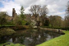 Reflexão do castelo de Prudhoe Imagem de Stock Royalty Free
