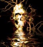 Reflexão do crânio ilustração royalty free