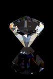 Reflexão do diamante preto imagem de stock