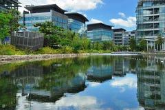 Reflexão do edifício Foto de Stock