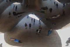 Reflexão do feijão de Chicago Foto de Stock Royalty Free