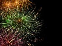 Reflexão do fogo-de-artifício Fotos de Stock Royalty Free