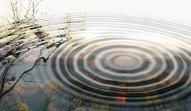 Reflexão do horizonte fotografia de stock