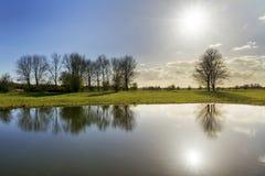 Reflexão do kamer de Blauwe Foto de Stock