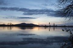 Reflexão do lago Cheadle Fotos de Stock