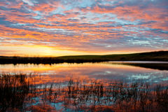 Reflexão do nascer do sol Foto de Stock