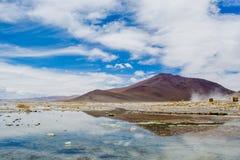 Reflexão do norte em Laguna Salada foto de stock royalty free