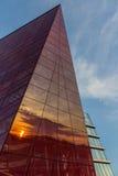 Reflexão do por do sol Imagem de Stock
