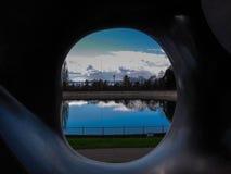 Reflexão do reservatório Foto de Stock