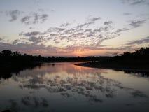 Reflexão do rio Foto de Stock