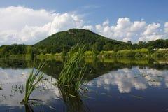 Reflexão do rio Mississípi fotografia de stock