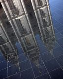 Reflexão do templo de Salt Lake fotos de stock royalty free