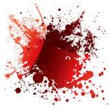 Reflexão do vermelho do sangue ilustração do vetor