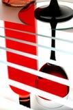 Reflexão do vinho de vidro imagem de stock