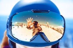 Reflexão dos vidros da montanha Fotos de Stock Royalty Free
