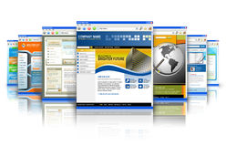 Reflexão dos Web site do Internet da tecnologia Imagem de Stock