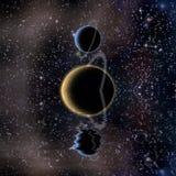 Reflexão e planetas das águas ilustração royalty free