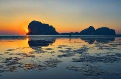 Reflexão em Pak-Meng Beach Fotos de Stock