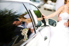 Reflexão em um carro Imagens de Stock