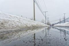 Reflexão em um dia nevoento imagem de stock