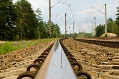 Reflexão em um fim do trilho acima. Foto de Stock Royalty Free