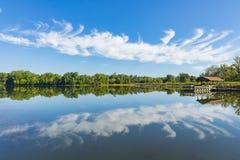 Reflexão frágil Warrenton Virgínia do lago foto de stock