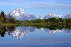 Reflexão grande de Teton Foto de Stock