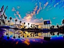 Reflexão litoral Foto de Stock