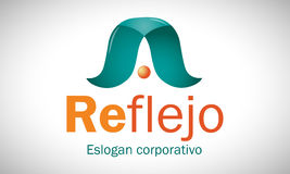 Reflexão 2 - logotipo Fotografia de Stock