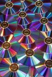 Reflexão metálica dos discos de DVD foto de stock royalty free