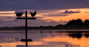 A reflexão molha a cruz Fotografia de Stock