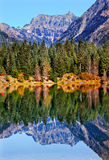 Reflexão Mt Chikamin Washington do lago gold Fotos de Stock Royalty Free