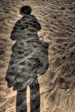 Reflexão na areia Fotos de Stock Royalty Free