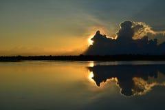 A reflexão nebulosa Foto de Stock Royalty Free